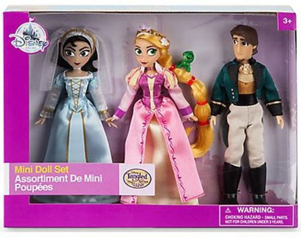 Toy Disney Doll Rupunzel, Cassandra & Eugene Mini