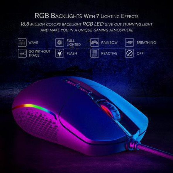 COMPUTER MOUSE RED DRAGON INVADER M719-RGB WIRED GAMING