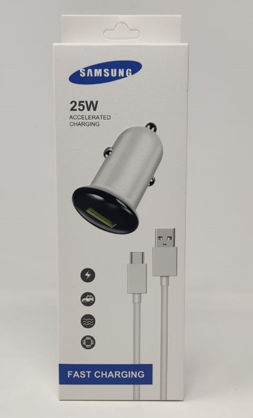 CHARGER CAR CABLE USB MICRO 25W ACCELERATED CHARGING WITH 12V ADAPTOR