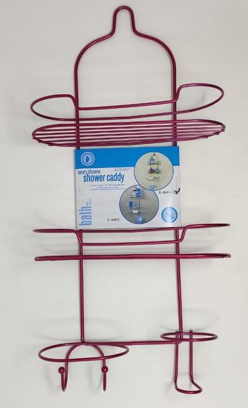 SHOWER CADDY 3 TEIR LUXURY PINK E-0057-1