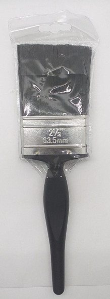 "PAINT BRUSH 2 1/2"" BLACK PLASTIC HANDLE"