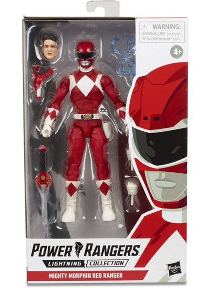"""Toy Power Rangers Lightning Collection 6"""" Mighty Morphin Red Ranger  Action Figure with Accessories"""