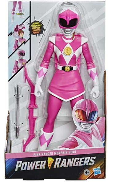 """Toy Power Rangers Mighty Morphin Pink Ranger Morphin Hero 12"""" with Accessory"""