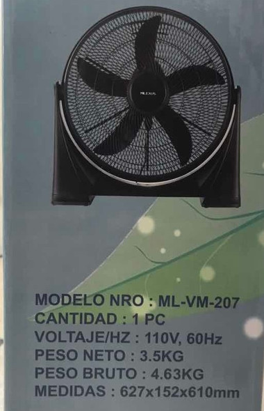 "FAN 20"" FLOOR MILEXUS ML-VM-207 110V"