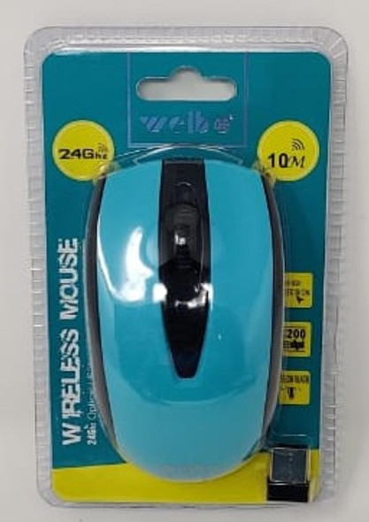 COMPUTER MOUSE WIRELESS 2.4GHZ WEIBO RF-2821B 10M