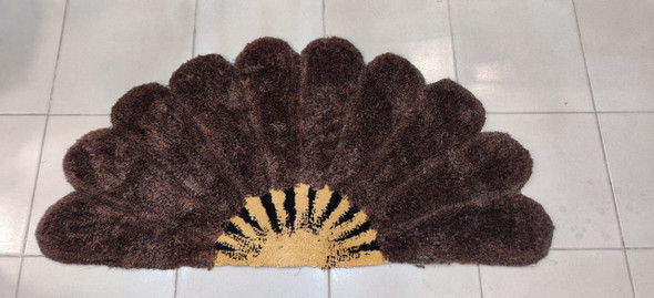 FLOOR MAT SE-87 HALF FAN RUG CARPET 70X140CM