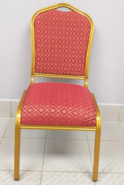 CHAIR WAITING RED AND GOLD
