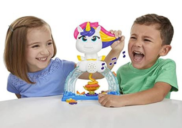 Toy Play-Doh Tootie The Unicorn Ice Cream Set with 3 Non-Toxic  Color Swirl Compound