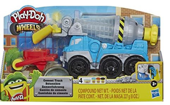 Toy Play-Doh Wheels Cement Truck  Non-Toxic Buildin' Compound with 3 Colors