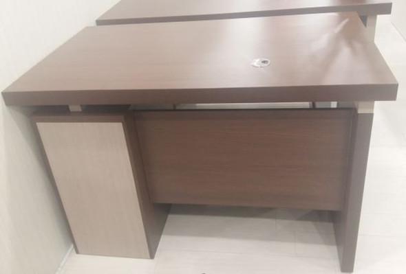 OFFICE DESK TABLE SET YF041-140X 1.4M 1400X650X760mm A & B WOOD AND METAL