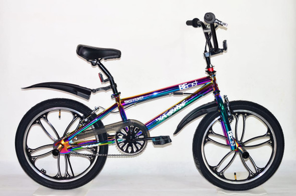 "BICYCLE 20"" SINGH SS-FREESTYLE-MAG STUNTS STREET BMX RAINBOW FRAME BEAST MAG RIM"