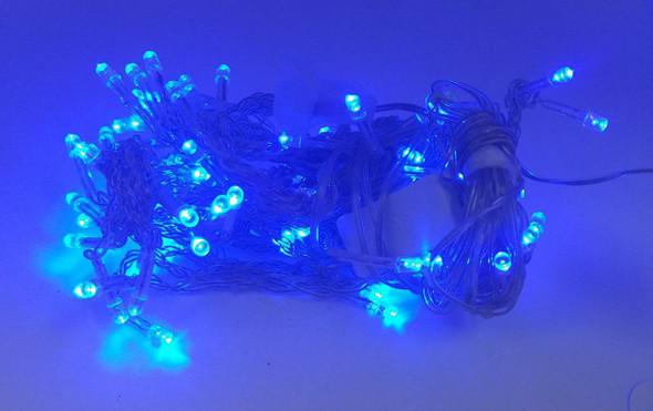 FAIRY LIGHT 100 BULB LED ICICLE 110V FLYING CRANE BLUE