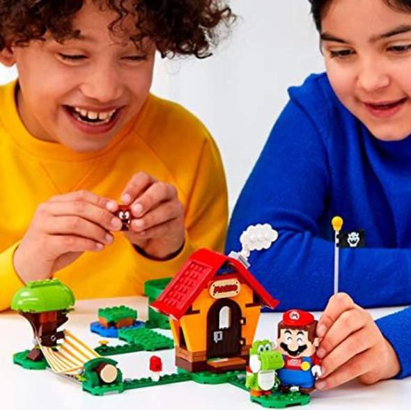Toy LEGO Super Mario, Mario's House & Yoshi Expansion set with Mario Starter Course (205 Pieces)