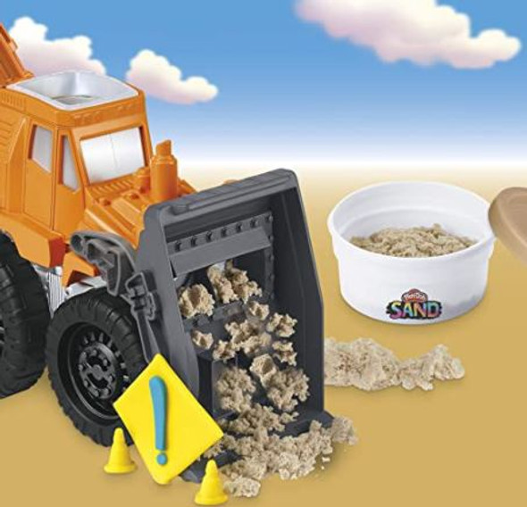 Toy Play-Doh Wheels Front Loader with Sand Compound  2 Colors
