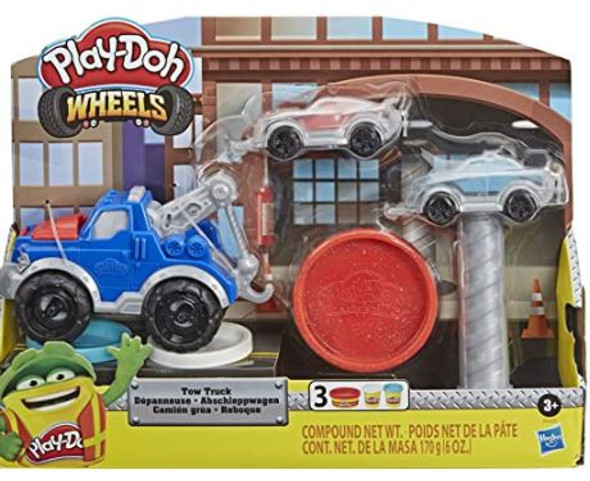 Toy Play-Doh Wheels Tow Truck  with 3 Non-Toxic Colors