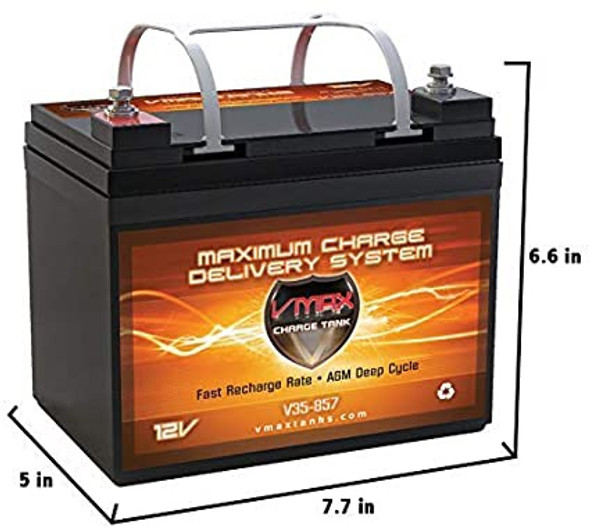 BATTERY VMAX CHARGE TANK V35-857 12V