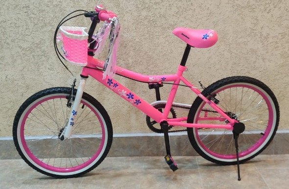 "BICYCLE 20"" SINGH SS-20 GIRLS PINK WITH BASKET"