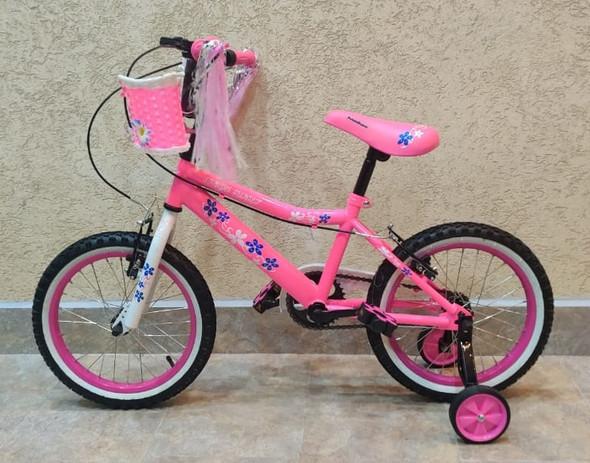 "BICYCLE 16"" SINGH SS-16 GIRLS PINK WITH BASKET"