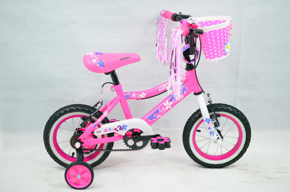 "BICYCLE 12"" SINGH SS-12 GIRLS PINK WITH BASKET"