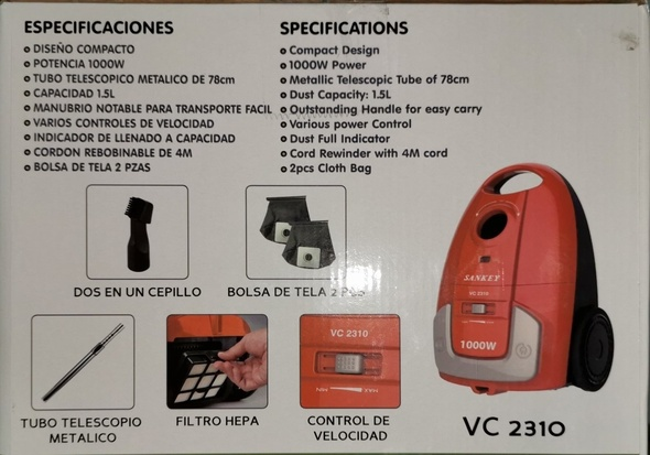 VACUUM CLEANER SANKEY VC-2310 1000W 1.5L