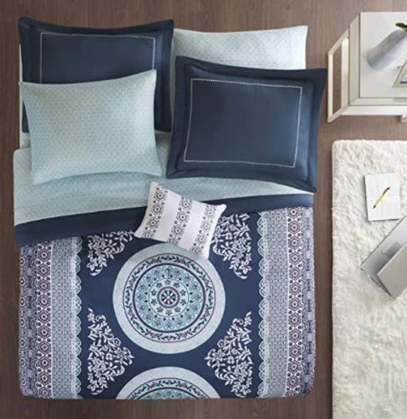 Comforter set Intelligent Design Navy Queen includes Bedsheet set & decorative pillow