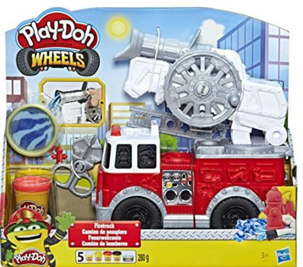 Toy Play-Doh Wheels Firetruck with 5 Non-Toxic Colors Water Compound