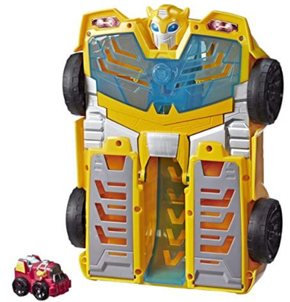 """Toy Playskool Heroes Transformers Rescue Bots Academy Bumblebee Track Tower 14"""" Playset, 2-in-1 Converting Robot"""