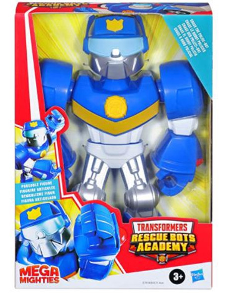"""Toy Transformers Playskool Heroes Mega Mighties Rescue Bots Academy Chase The Police-Bot 10"""""""