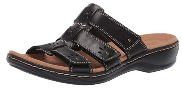 Footwear Clarks Women's Leisa Spring Slide Sandal Black