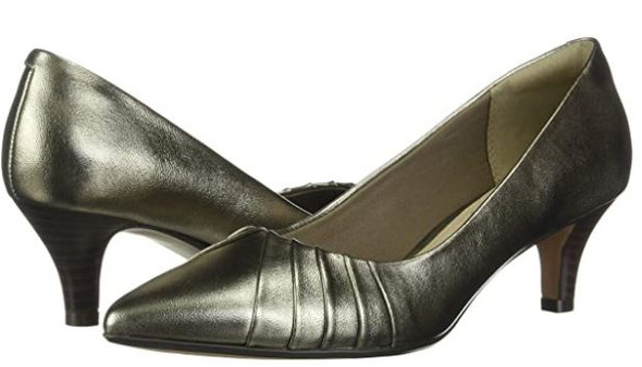 Footwear Clarks Women's Linvale Crown Pump metallic