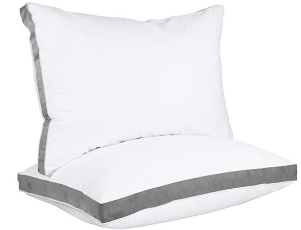 Pillow Utopia Gusseted Gray (2-Pack) Queen 18 x 26 Inches