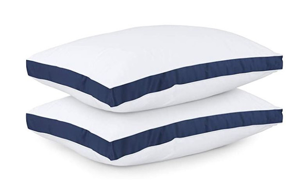 Pillow Utopia Gusseted Navy (2-Pack) Queen 18 x 26 Inches