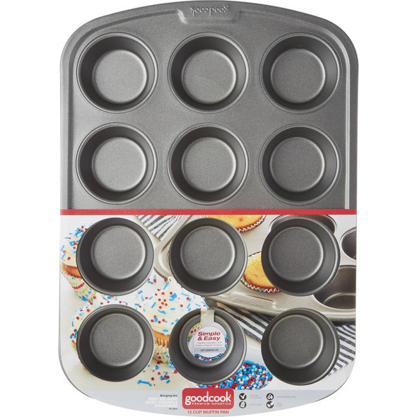 CAKE PAN GOODCOOK MUFFIN 04031 12 CUP