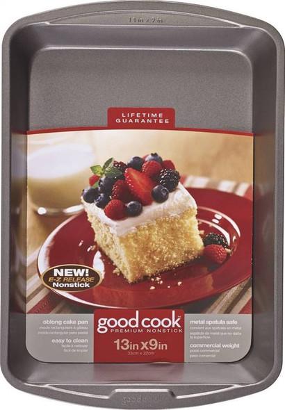 "CAKE PAN GOODCOOK OBLONG CAKE 04010 13"" X 9"" 33CM X 22CM"