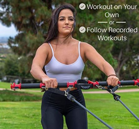 Tension Toner Full Body Resistance Bar Portable Workout Equipment