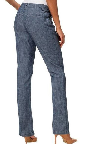 pants women Lee Tailored Chino Chambray medium