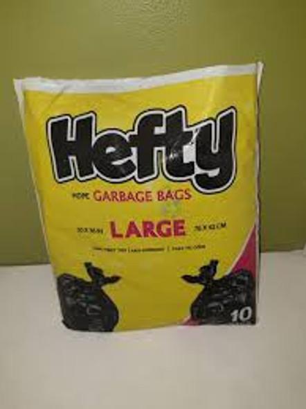 BAGS GARBAGE 10PCS LG HEFTY