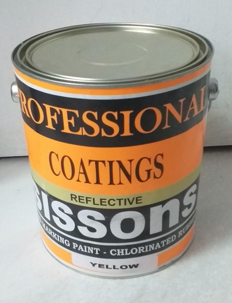PAINT SISSONS ROAD MARKING YELLOW REFLECTIVE COATINGS