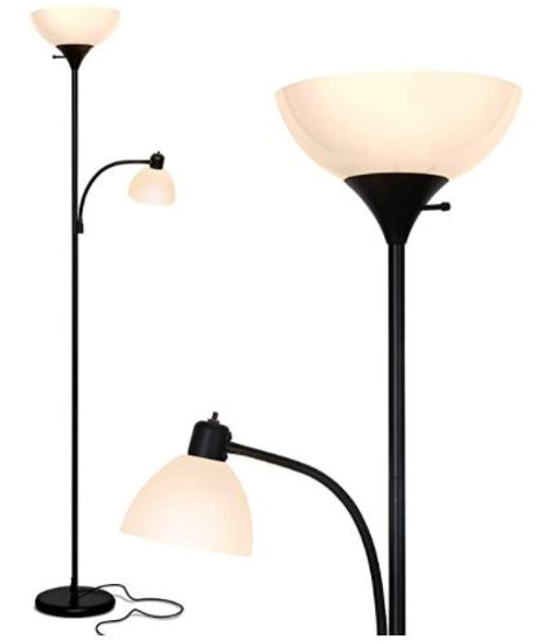 Floor Lamp Brightech LED Torchiere & Reading, Dimmable Modern Standing Pole