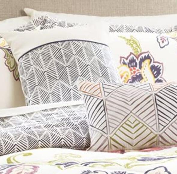 Comforter Set Lush Decor  Queen 5 pcs Reversible coral & navy