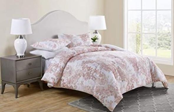 Comforter Set Tahari Sofia Collection Rose King 3pcs Modern