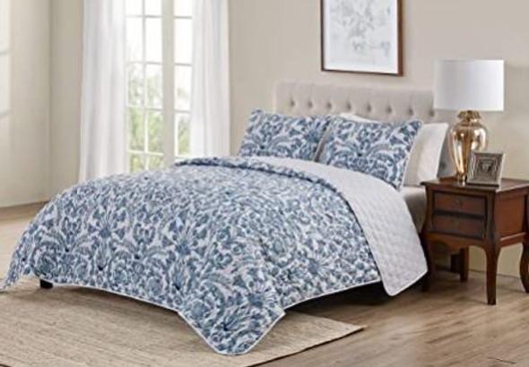 Quilt Set Tahari Montreau Collection Queen 3 pcs Luxury Premium Ultra Soft