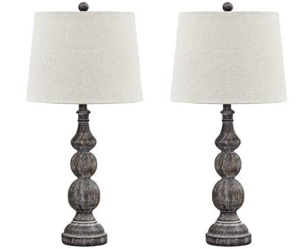 Table Lamp Ashley Signature Design Mair Set of 2 Timeworn Finish - Black L276014