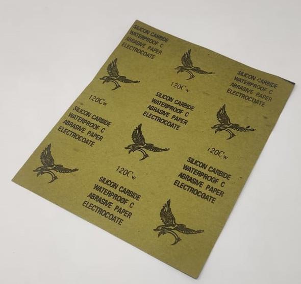 SAND PAPER METAL #120 CW SILICON CARBIDE WATERPROOF C ABRASIVE