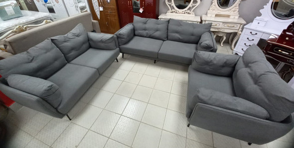 SOFA SET 2-2-1 DARK GREY 806