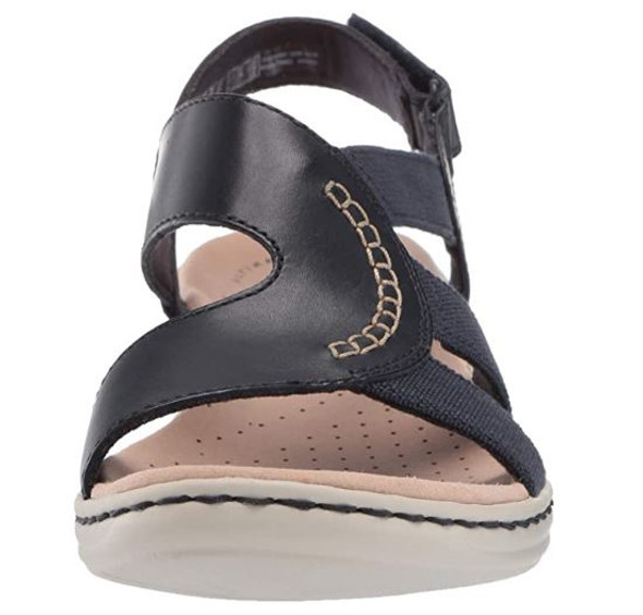 Footwear Clarks Women's Leisa Joy Navy Leather/Textile Combo