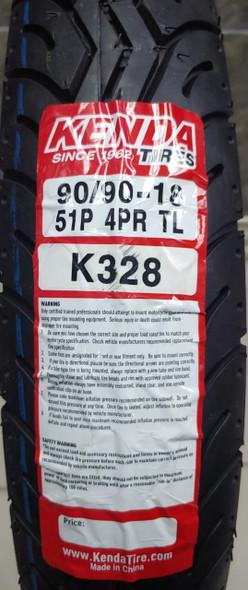 M/CYCLE TYRES RR 90/90-18 KENDA K328 51P 4PR TL