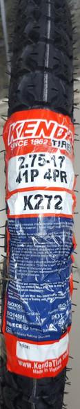 M/CYCLE TYRES RR 275 X 17 2.75-17 KENDA K272 41P 4PR