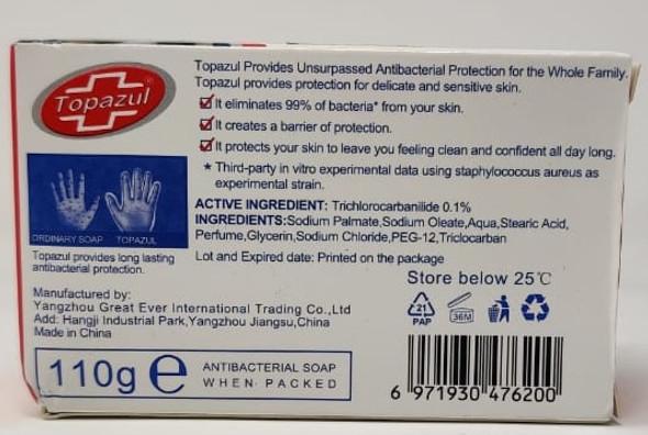 TOPAZUL SOAP 110G ANTI-BACTERIAL 99%