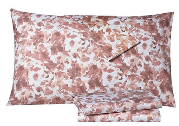 Bedsheet Set Tahari Modern Rose Floral King 6pcs wrinkle/stain resistant
